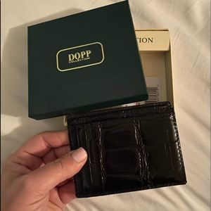 dopp collection faux leather snake wallet